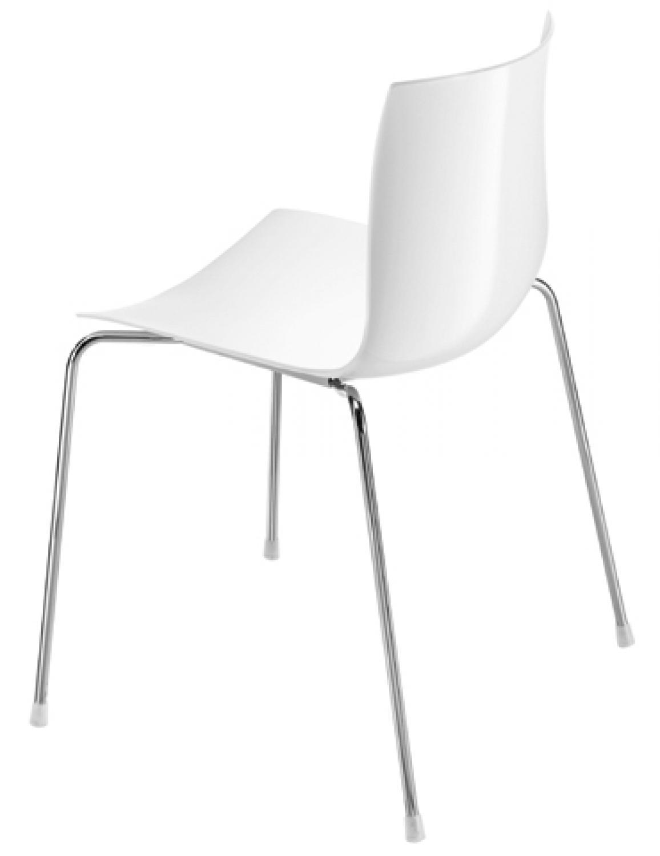 arper catifa 46 wei 4 bein chromgestell g nstig. Black Bedroom Furniture Sets. Home Design Ideas