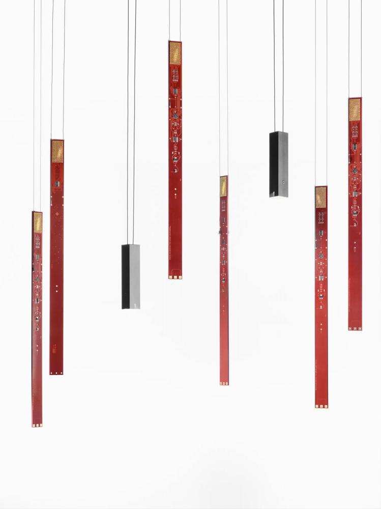 ingo maurer flying flames element led pendelleuchte. Black Bedroom Furniture Sets. Home Design Ideas